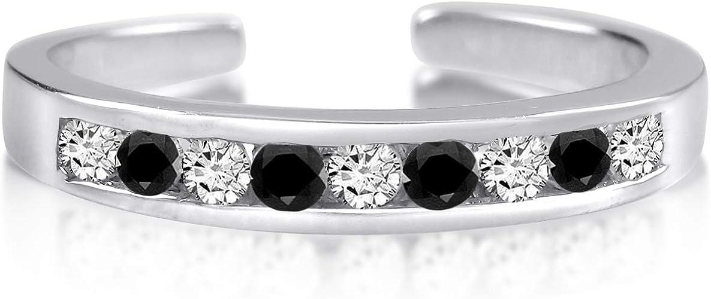 TVS-JEWELS 925 Sterling Silver Round Cut White CZ /& Pink Stone 4 Pcs Set Womens Wear Toe Ring