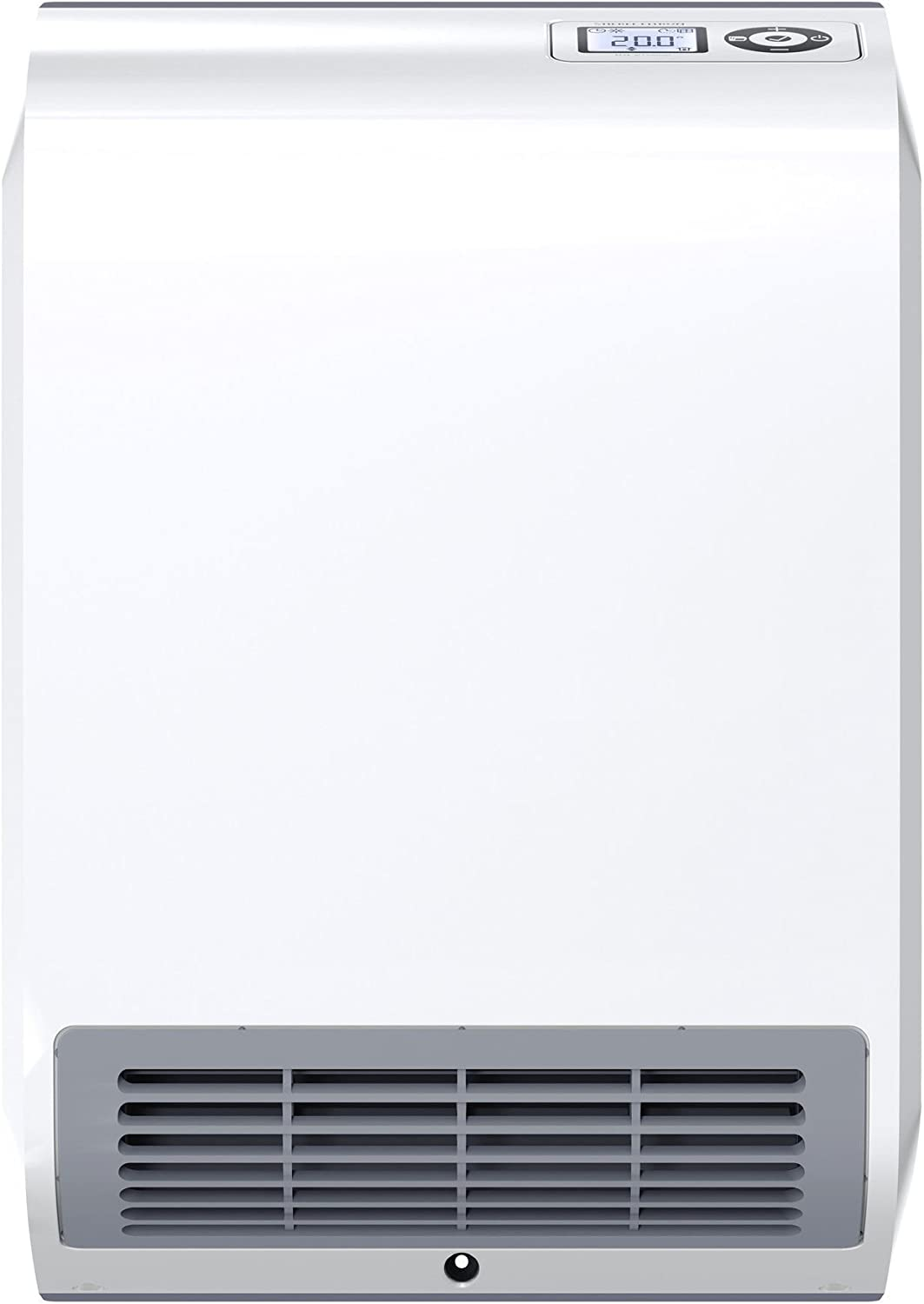 Stiebel Eltron 236653 CK Trend LCD Wall Mounted Rapid Electric Fan Heater for About 20 sqm, Plastic, LED, 7-Day Timer, Frost+overheating Protection, Open Window Detection, 2000 W, White
