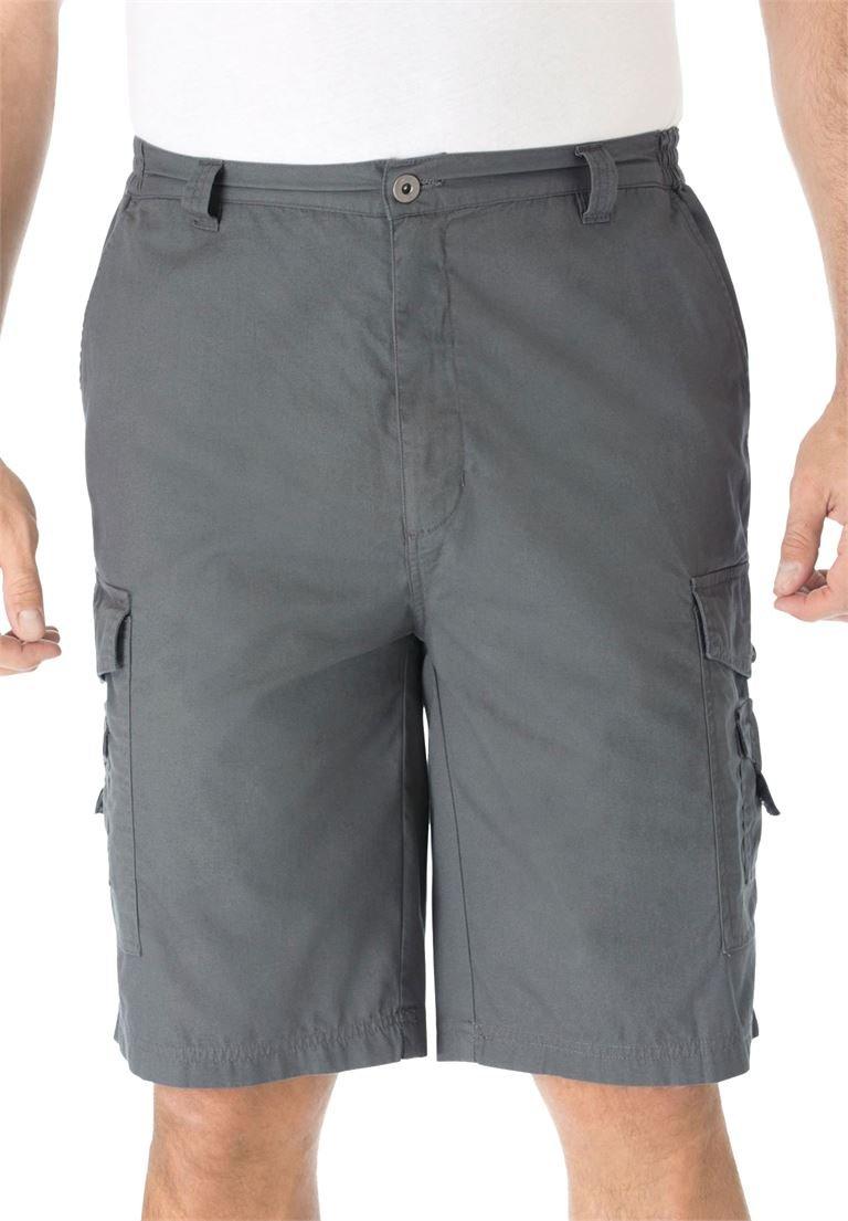 KingSize Men's Big & Tall Canyon Cargo Shorts, Steel Tall-38
