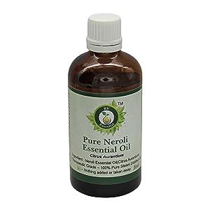 R V Essential Pure Neroli Essential Oil 50ml (1.69oz)- Citrus Aurantium (100% Pure and Natural Therapeutic Grade)