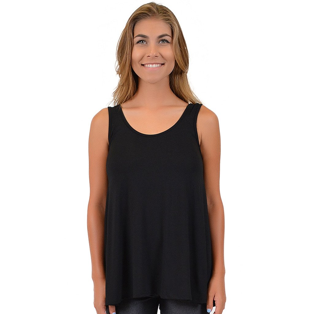 e1090314bdd Stretch is Comfort Women s Modal Ava Tunic Tank at Amazon Women s Clothing  store