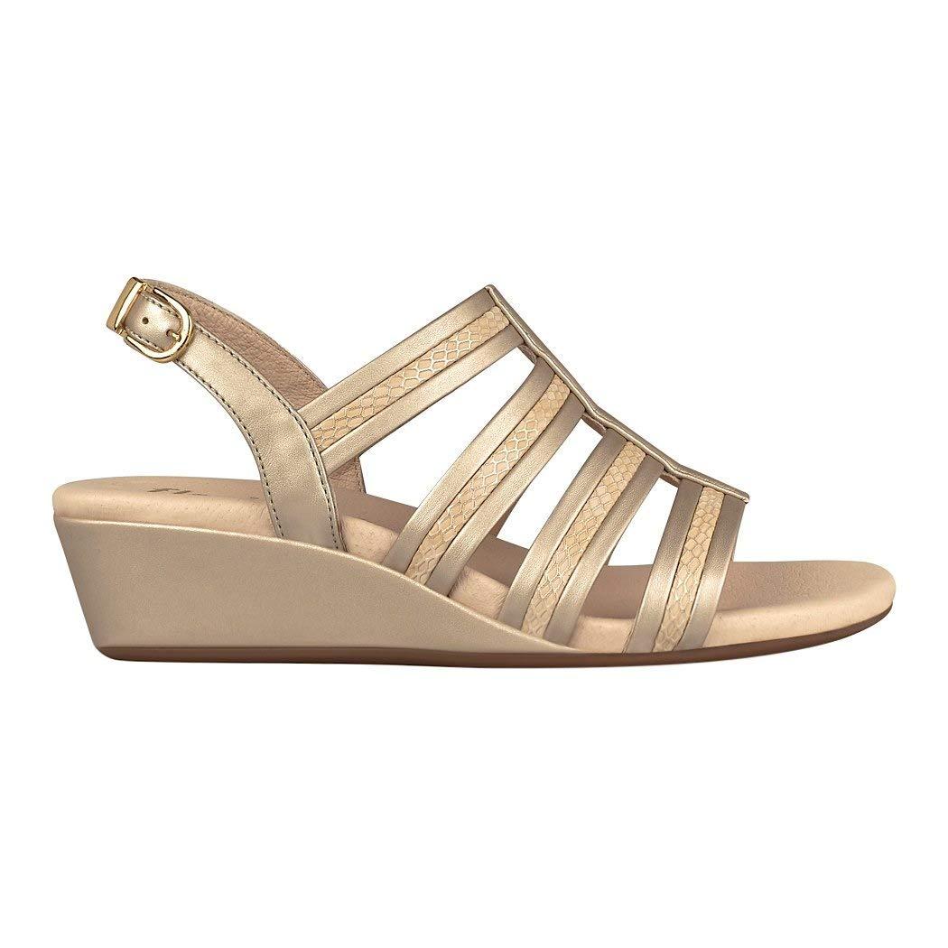 7160ac3f Flexi- Sandalia Dorada Sandalia para Mujer: Amazon.com.mx: Ropa, Zapatos y  Accesorios