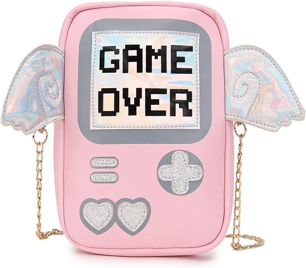 Cute Fashion Wings Game Machine Shape Pu Leather Girl's Shoulder Bag Handbag Crossbody Bag