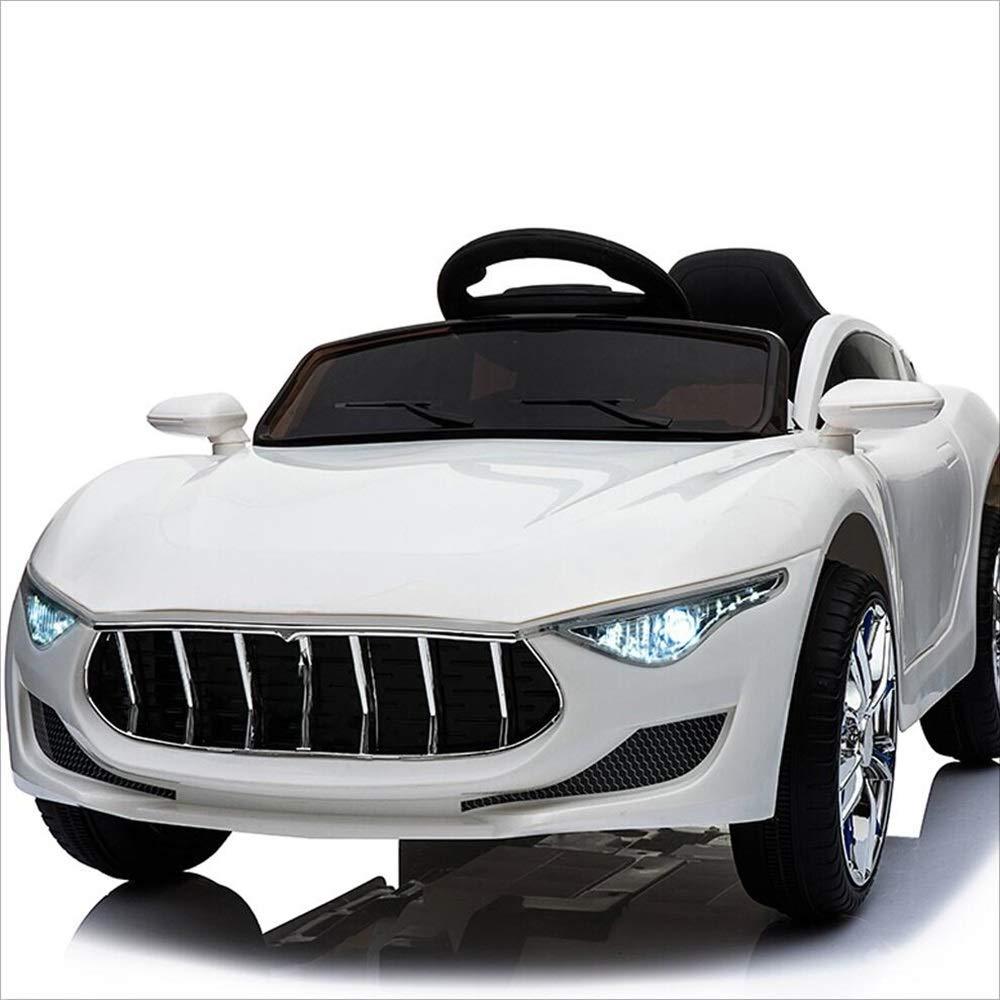 Weiß Fernbedienung Kinder Elektroauto kann vier Runden von drei Geschwindigkeiten 1-5 Jahre alt Kinderspielzeug sitzen (Farbe   Weiß)