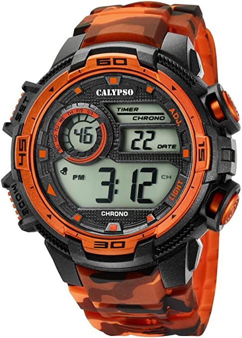 Calypso Reloj Digital para Hombre de Cuarzo con Correa en Plástico K5723/5