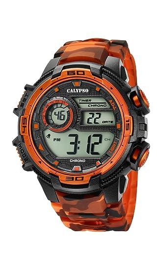 e53792798602 Calypso Reloj Digital para Hombre de Cuarzo con Correa en Plástico K5723 5   Calypso