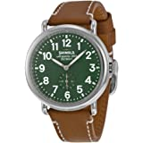 Shinola The Runwell Green Dial Leather Unisex Watch S0100026