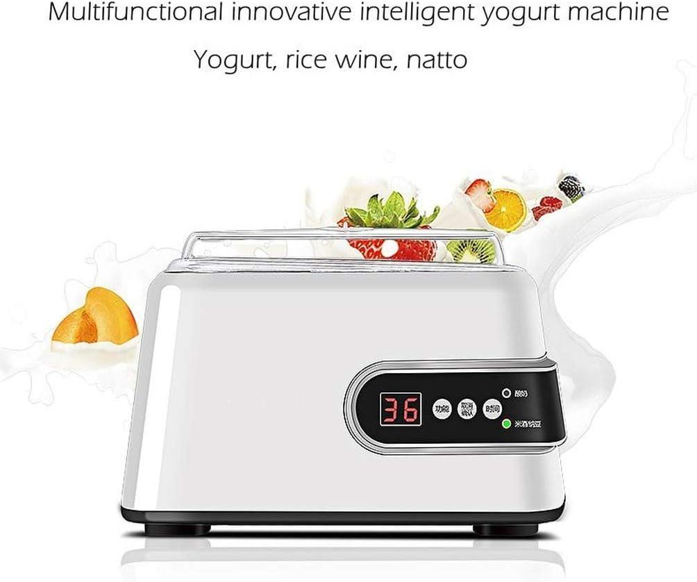 1.3L, Macchina Per Yogurt Automatica, rivestimento in Acciaio inossidabile, Strumenti Per Yogurt Fai-da-te, Macchina Per Il Vino Di Riso Natto (without cups) With Cups