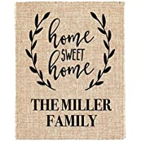 Home Sweet Home Burlap Print House Warming Gift New Home Housewarming Gift Custom Address Sign New Homeowner Real Estate Closing Gifts Agent