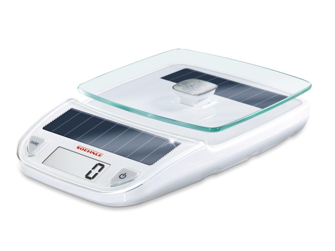Soehnle 66183 Digitale Küchenwaage Easy Solar white: Amazon.de ...