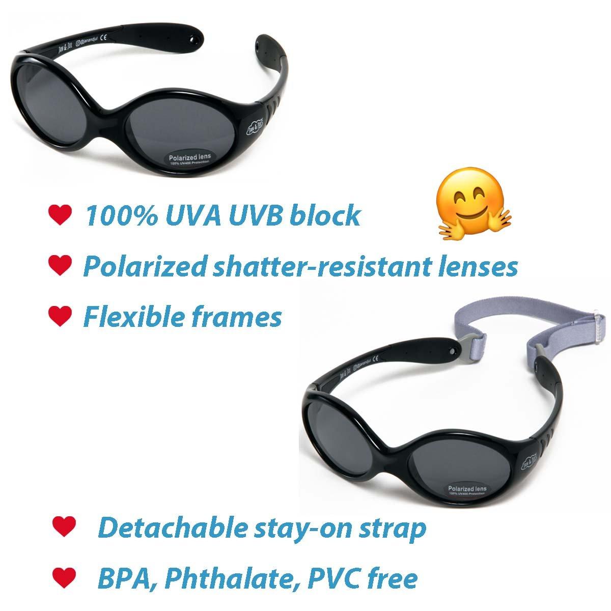 72f59809116 Baby Toddler Polarized Sun-glasses With Strap 100% UV Block  Amazon.co.uk   Clothing