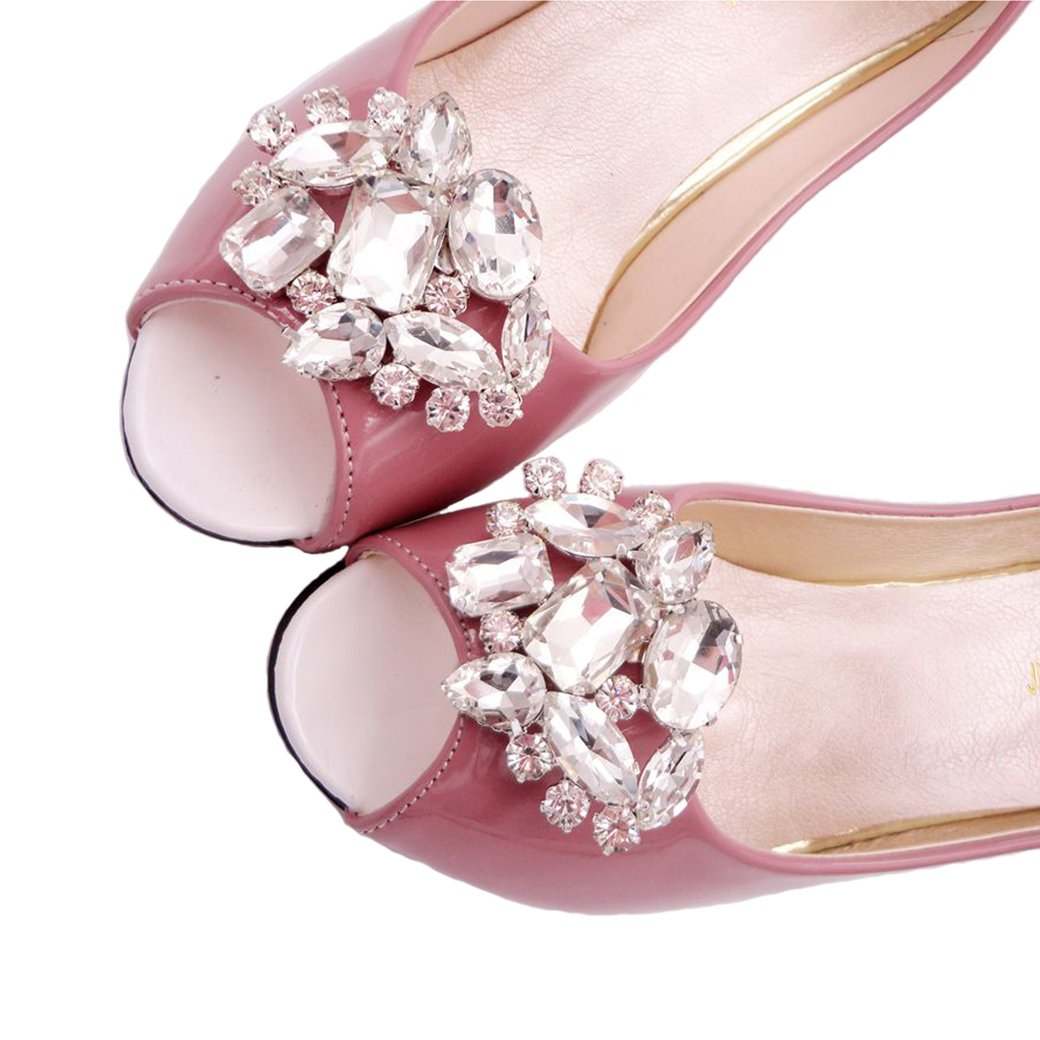Santfe sparkling rhinestone crystal shoe clips buckle wedding bridal santfe sparkling rhinestone crystal shoe clips buckle wedding bridal shoe accessories shoe decoration charms xk7709 junglespirit Image collections