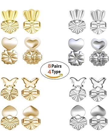 2 x paire de Plastique Papillon Stud Boucle d/'oreille dos de remplacement de fabrication de bijoux