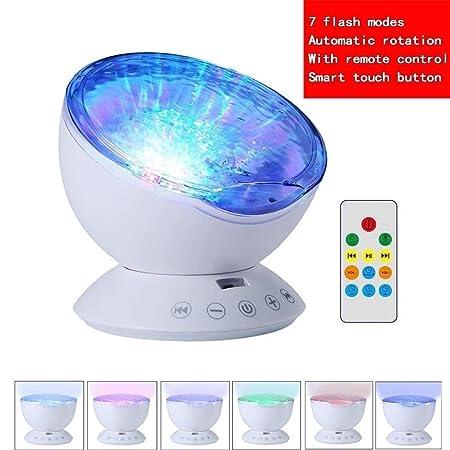Luz nocturna for proyectores Ocean Wave, lámpara de sueño con ...