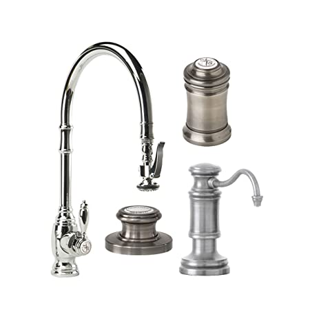 Waterstone 5500-4-SN Annapolis Kitchen Faucet Single Handle with ...