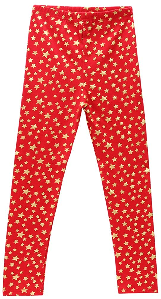Beloved Lucia Girls Spring Leggings Mid Waiste-Soft/&Slim Cotton Printed Pants Spring Trousers 2-14Y