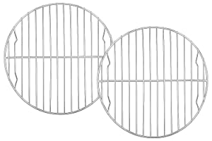 TeamFar Round Cooling Rack Set of 2, 9 Inch Round Rack Baking Steaming Roasting Rack Set Stainless Steel, Healthy & Dishwasher Safe, Mirror Finish & Rust Free