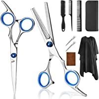 9 PCS Professional Hair Cutting Scissors, Barber Thinning Scissors Hairdressing Shears Stainless Steel Hair Cutting…