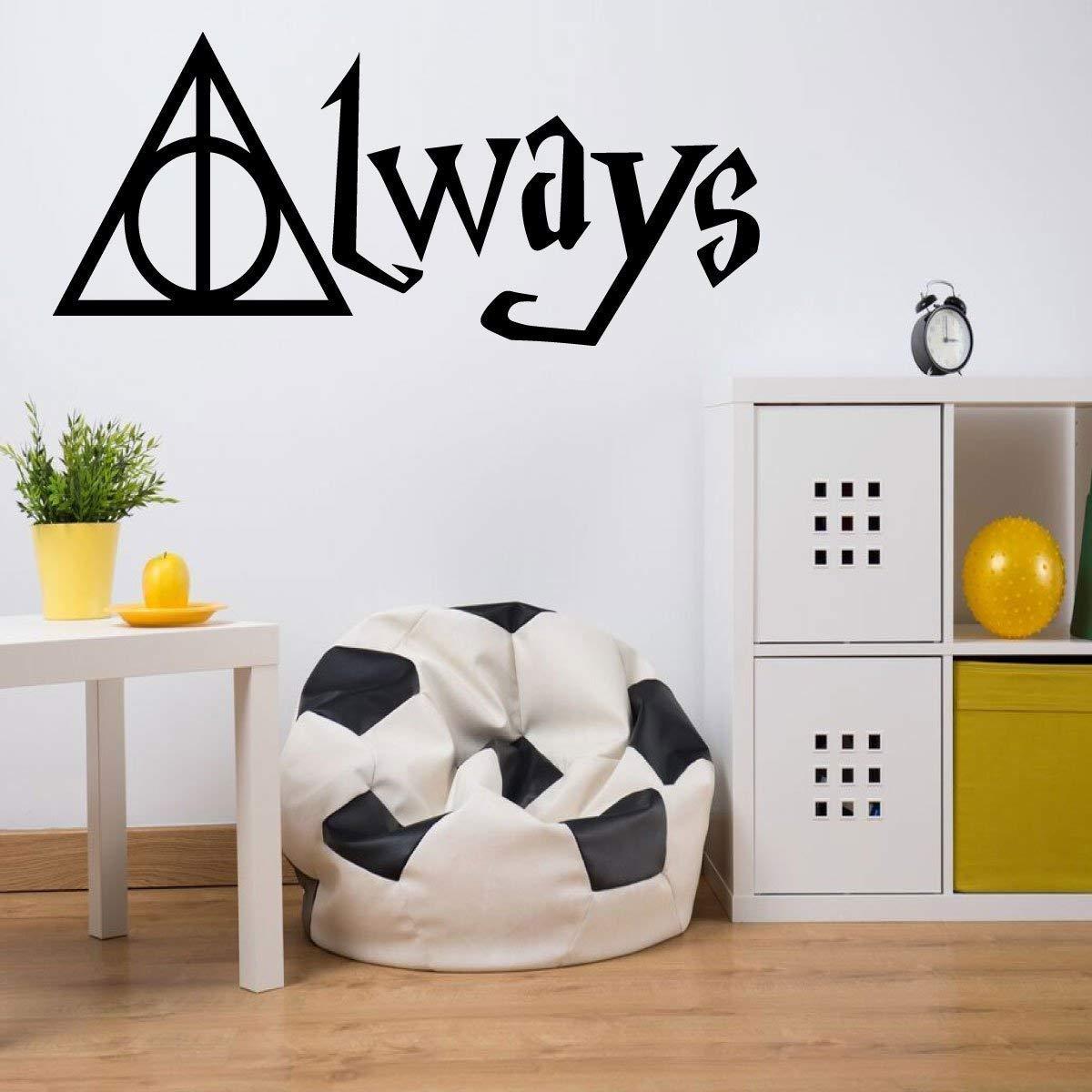 Professor Severus Snape Wall Art - Always - Vinyl Sticker Decal for Home Decor Bedroom, Playroom or Classroom Decoration