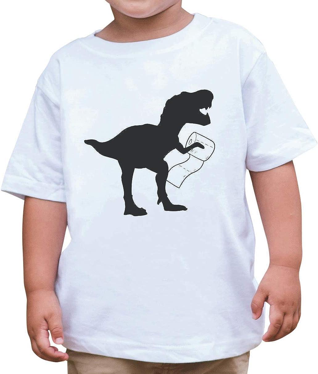 7 ate 9 Apparel Kids Dinosaur Toilet Paper Quarantine Outfit