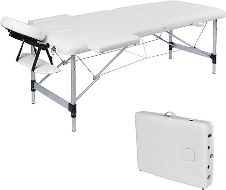 Lettino Da Massaggio Portatile In Alluminio.Wellhome Lettino Da Massaggio 2 Zone Alluminio Pieghevole