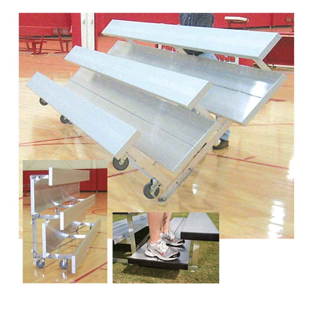 3-row優先Tip N Roll Bleacher ( 7 ft。6で。L x 5 ft。w x 2.5 Ft。H )