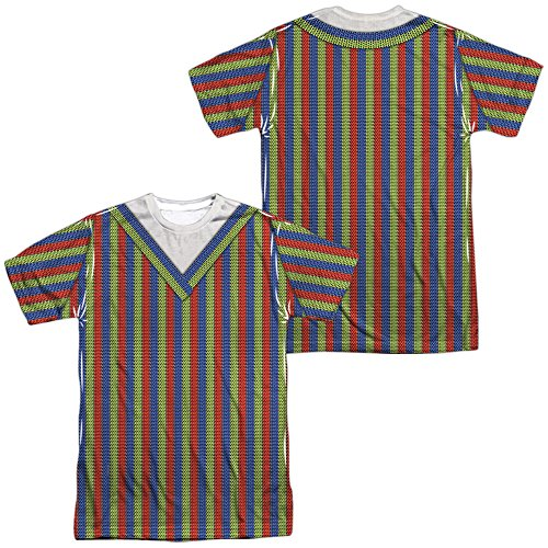 Sesame Street Bert Costume (Front Back Print)-S S Adult Poly -