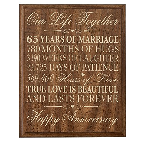 65th wedding anniversary wall plaque gifts for couple parents 65th anniversary gifts for her. Black Bedroom Furniture Sets. Home Design Ideas