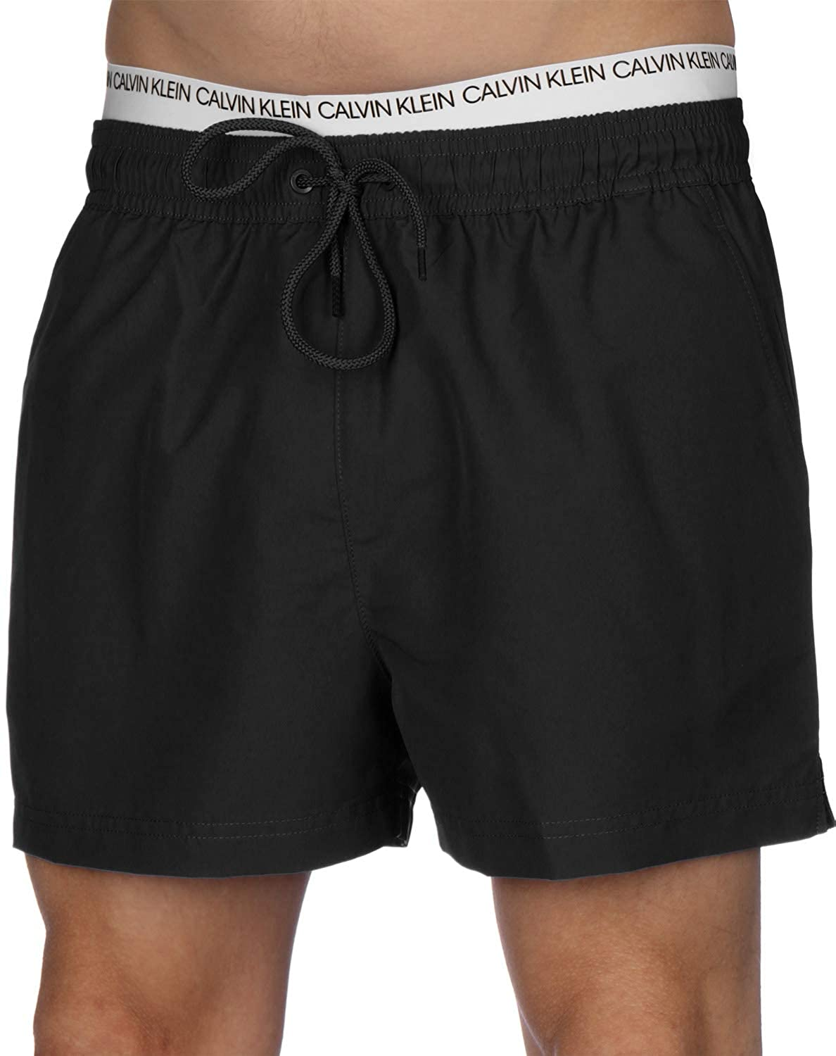72e2aa48e2 Calvin Klein Short Double Waistband Swim Shorts | Amazon.com