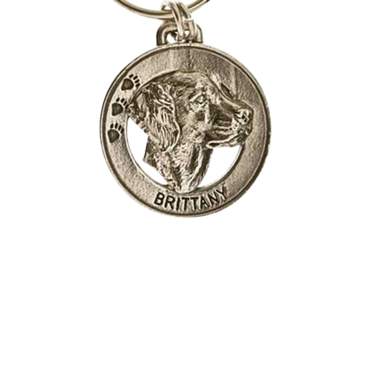 Creative Pewter Designs, Pewter Brittany Key Chain, Antiqued Finish, DK038