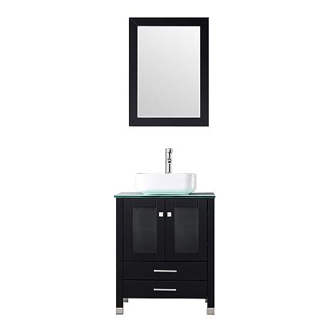 Sliverylake 24 Bathroom Vanity Black Bathroom Vanities Top With Sink Faucet Combo