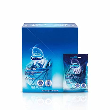 Durex Condoms, Jeans Tray - 12 Pouches (24 Condoms)