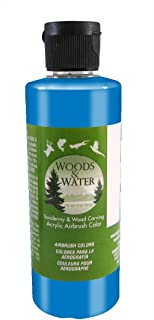 product image for Badger Air-Brush Co. 16-Ounce Woods and Water Airbrush Ready Water Based Acrylic Paint, Pearl Blue