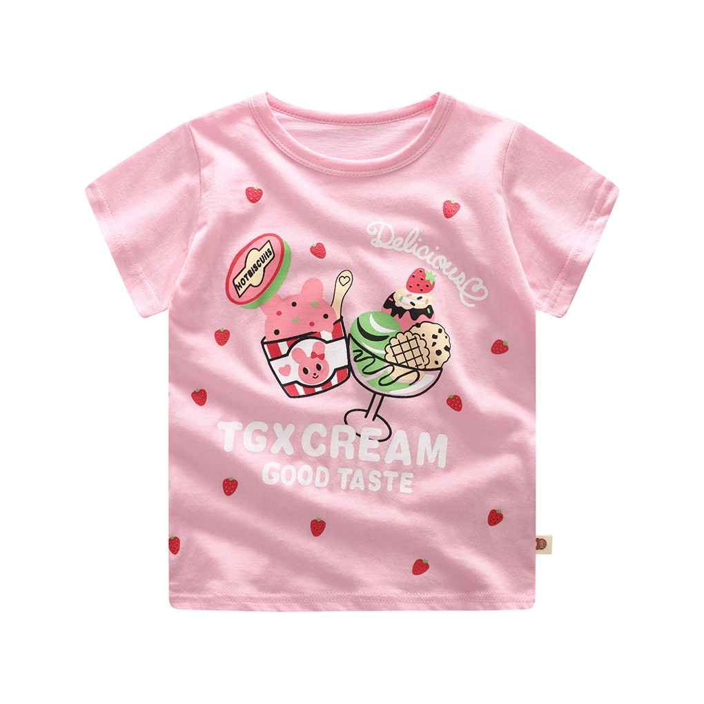 Minzhi 2ST Junge Baby M?dchen Cartoon Top kurze Hosen Baumwolle Kurzarm-T-Shirt Outfits Set