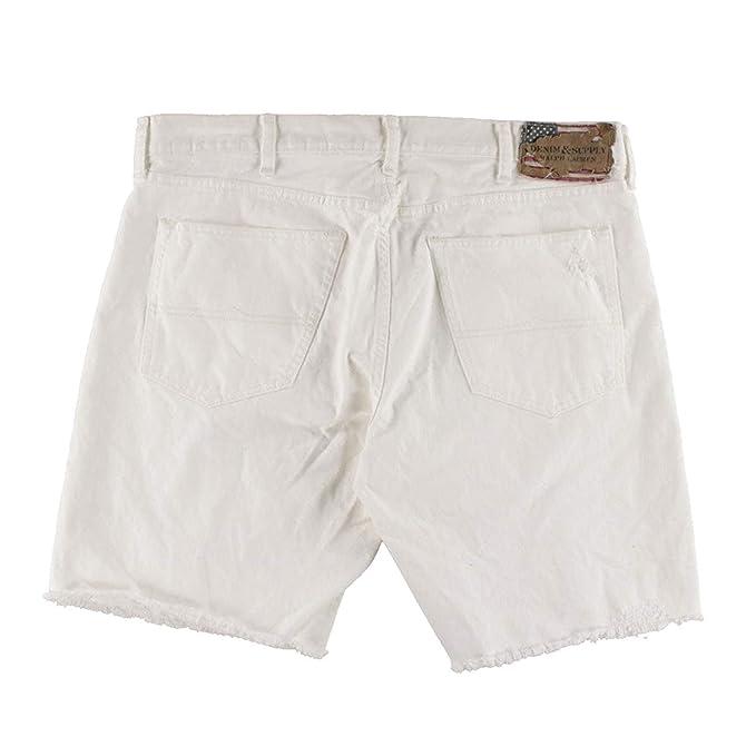3fdbce606 RALPH LAUREN Denim Supply Kingwood Distressed Denim Shorts at Amazon Men s  Clothing store
