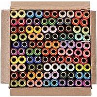 DECCAN 100 Thread Spools (25 Shades, each 4 in no.) ASSORTED SET C