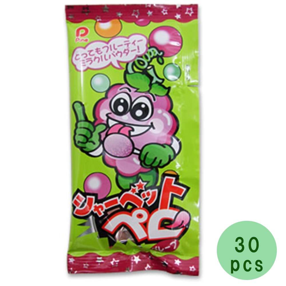 Sherbetpero 30pcs Set Grape Taste 0.4oz Japanese Lollipop Candy Pine Ninjapo by Ninjapo