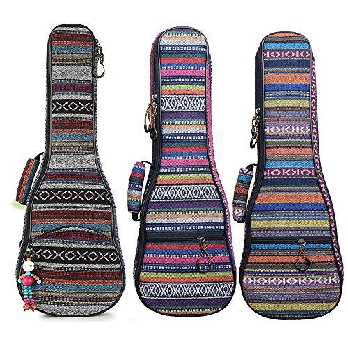 able & Comfortable Durable Ethnic Ukulele Case Bag Bohemia style (26in, Bohemia NO.2) ()