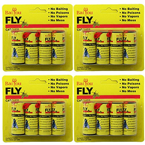 Yezijin 16 Rolls Sticky Fly Paper Eliminate Flies Insect Bug Glue Paper Catcher Trap