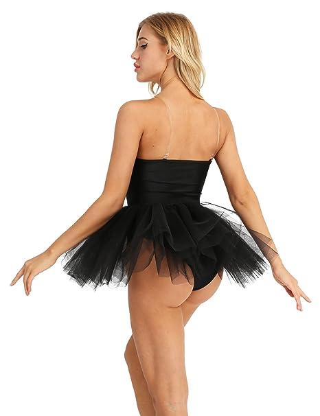 a022f9bb6526 Amazon.com   iEFiEL Women Cotton Tulle Tutu Skirt Built In Shelf Bra ...