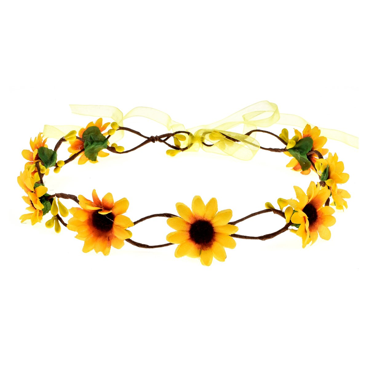 Dreamlily Festivals Floral Hair Band Adjustable Ribbon Daisy Flower