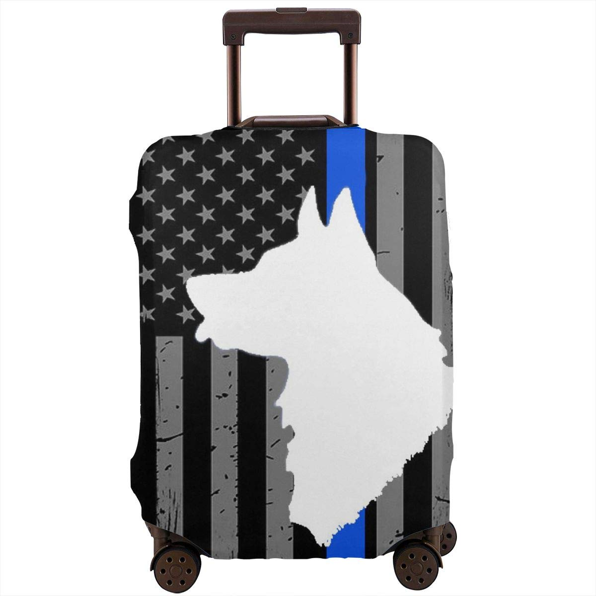 TYDhey Thin Blue Line Flag Police Dog Universal Fashion Luggage Suitcase Cover Protector