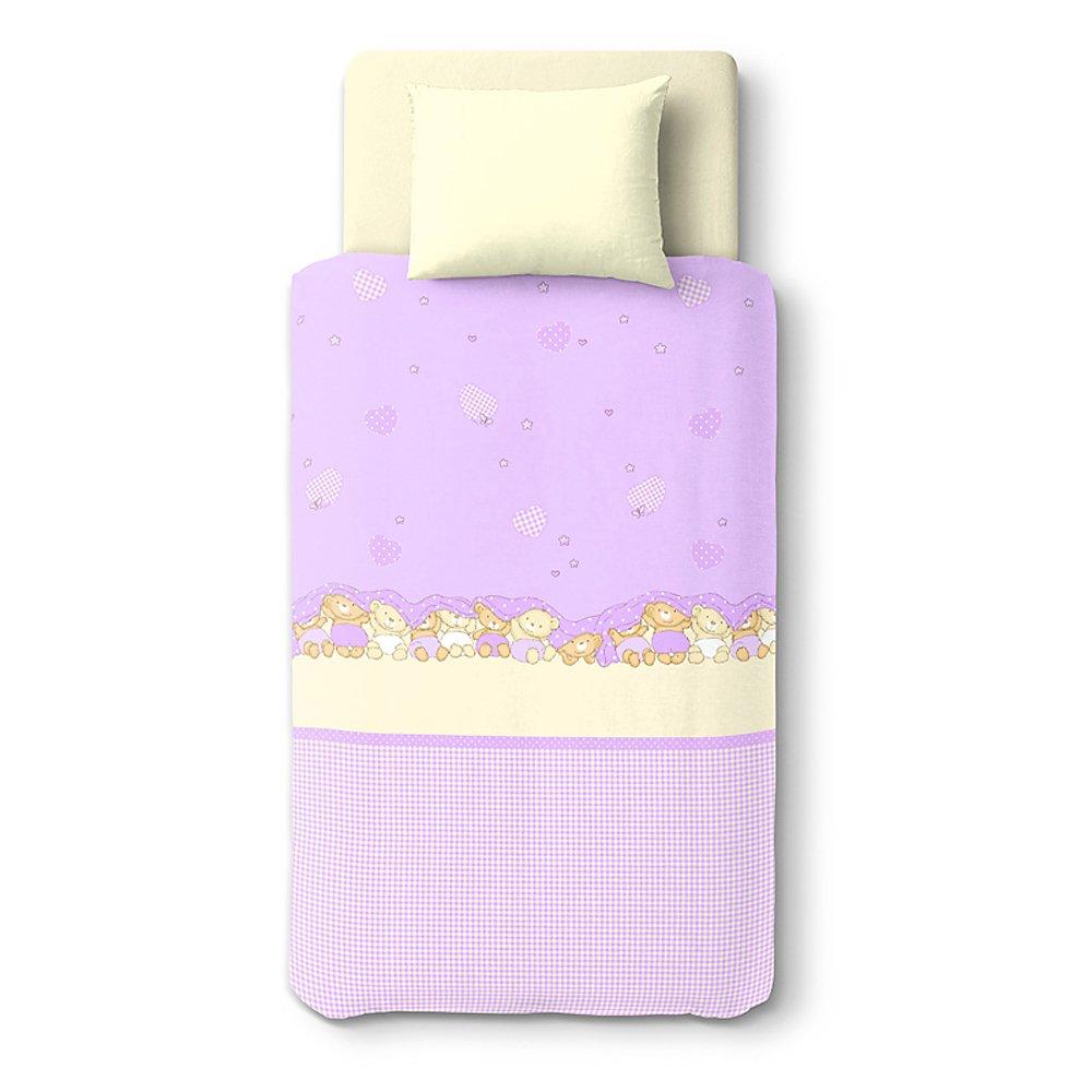 Baby Three Bears – SoulBedroom 100% Cotton Bed Set (Duvet Cover 47''x 59'' cm & Pillow Case 15''x 23'' cm)