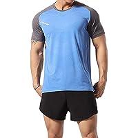 GYMAPE - Camiseta deportiva de manga corta para hombre, transpirable y cómoda, para correr, entrenar o ir al gimnasio…