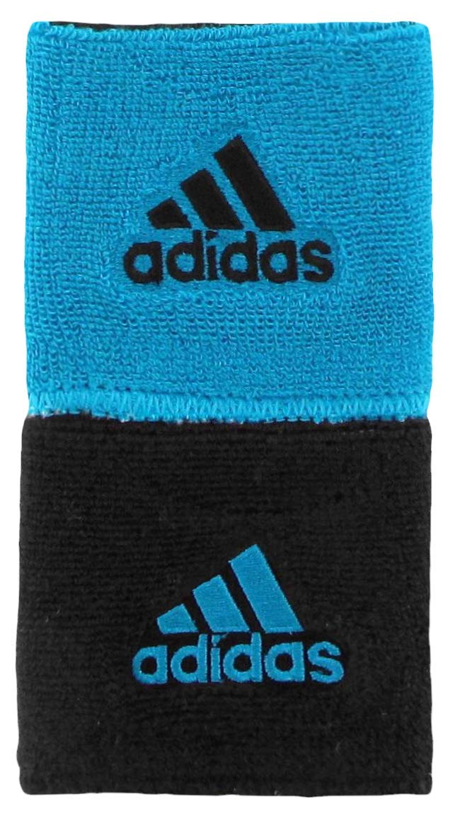 adidas Unisex Interval Reversible Wristband, Solar Blue/Black, ONE SIZE by adidas