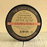 Sudsy Soapery™ Shaving Soap Triple Butter All Natural Super-Creamed Almond and Vanilla Scent for Men and Women, Ladies Shave Soap too!