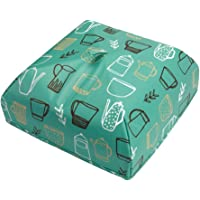 UPKOCH Square Waterproof Insulated Food Cover Reusable Collapsible Dish Cover Food Tent Kitchen Tool Dining Table Decor Green Size L