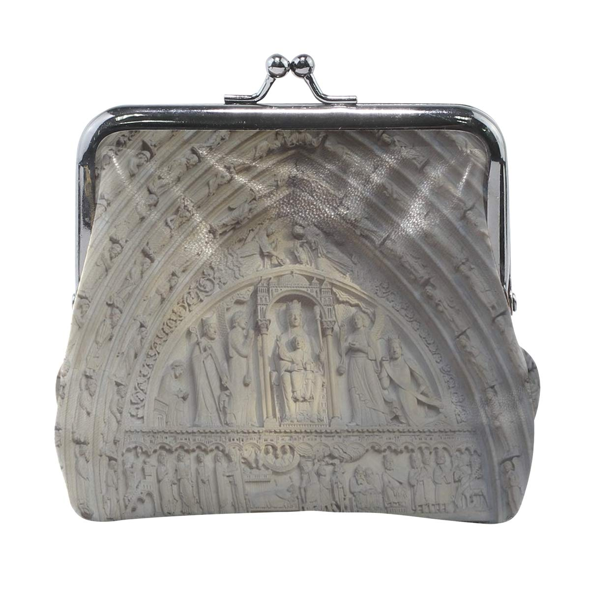 Rh Studio Coin Purse Clasp Closure Notre Dame Cathedral Paris France Print Wallet Exquisite Coin Pouch Girls Women Clutch Handbag Exquisite Gift