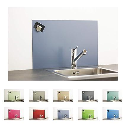 Paulus Spritzschutz Küche Herd Wand Küchenrückwand magnetisch 60x40cm blau,  RAL 5014 taubenblau