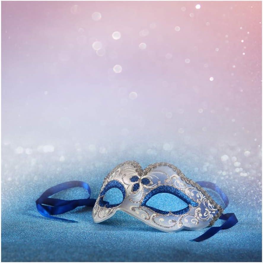 Yeele 10x8ft Venetian Mask Photography Background Glitter Sparkle Spots Masquerade Happy Carnival Feather Girls Room Decoration Photo Portrait Vinyl Studio Video Shooting Photo Backdrop